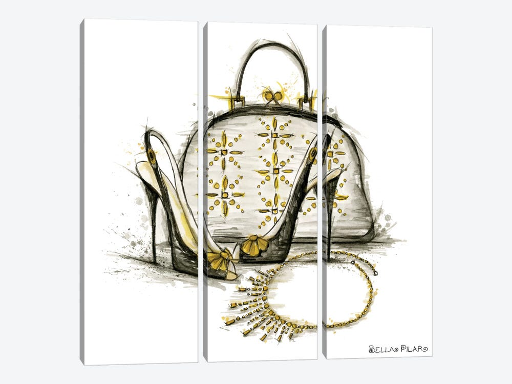 All Dressed Up Series: Shelly's Accessories by Bella Pilar 3-piece Canvas Wall Art