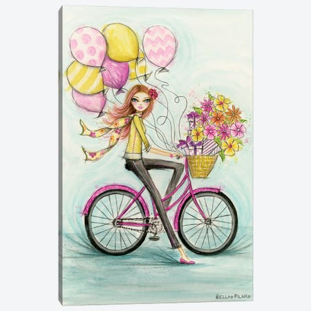Birthday Bicycle Canvas Print #BPR229} by Bella Pilar Canvas Art