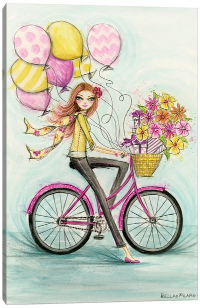 Birthday Bicycle Canvas Art Print