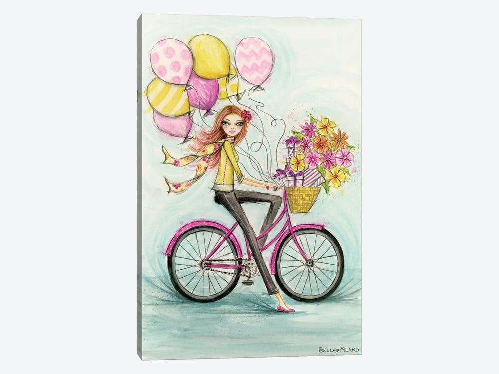 Birthday Bicycle by Bella Pilar 1-piece Canvas Print