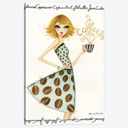 Latte Laila Canvas Print #BPR231} by Bella Pilar Art Print