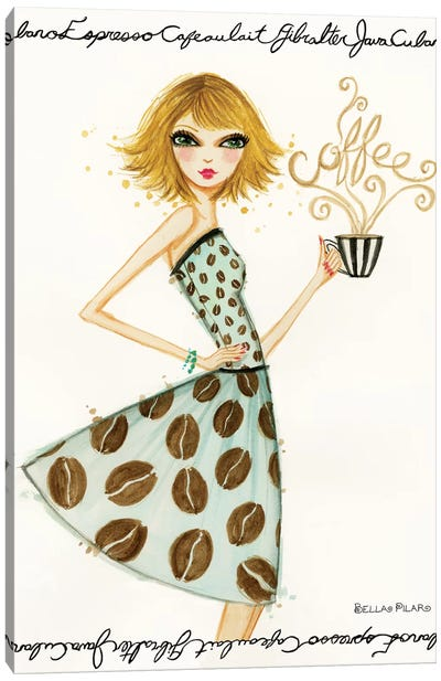 Latte Laila Canvas Art Print