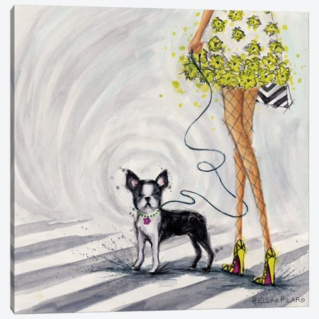 Crosswalk Life Canvas Print #BPR233} by Bella Pilar Canvas Art Print
