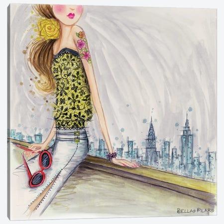 Skyline View Canvas Print #BPR234} by Bella Pilar Canvas Artwork