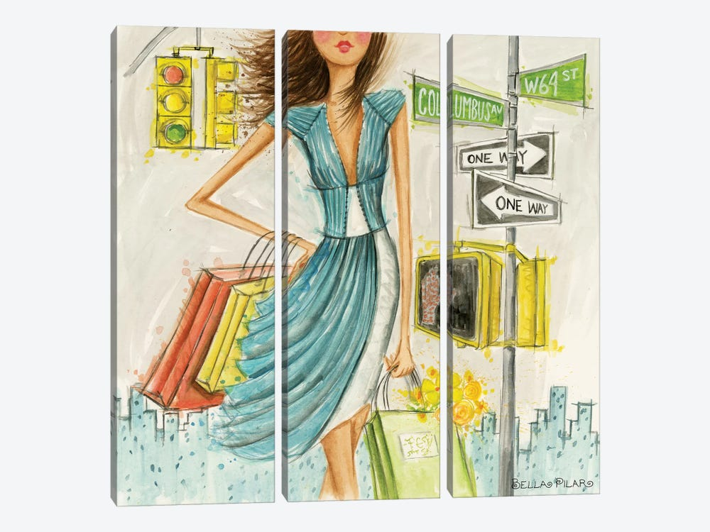 City Girl Series: Street Signs by Bella Pilar 3-piece Canvas Art
