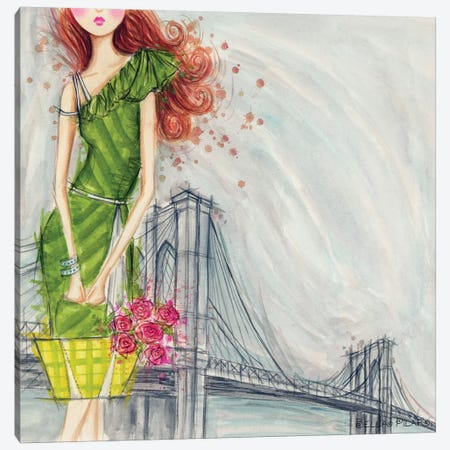 The Brooklyn Bridge Canvas Print #BPR236} by Bella Pilar Canvas Artwork