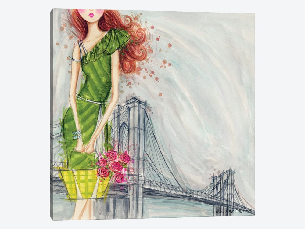 City Girl Series: The Brooklyn Bridge by Bella Pilar 1-piece Art Print