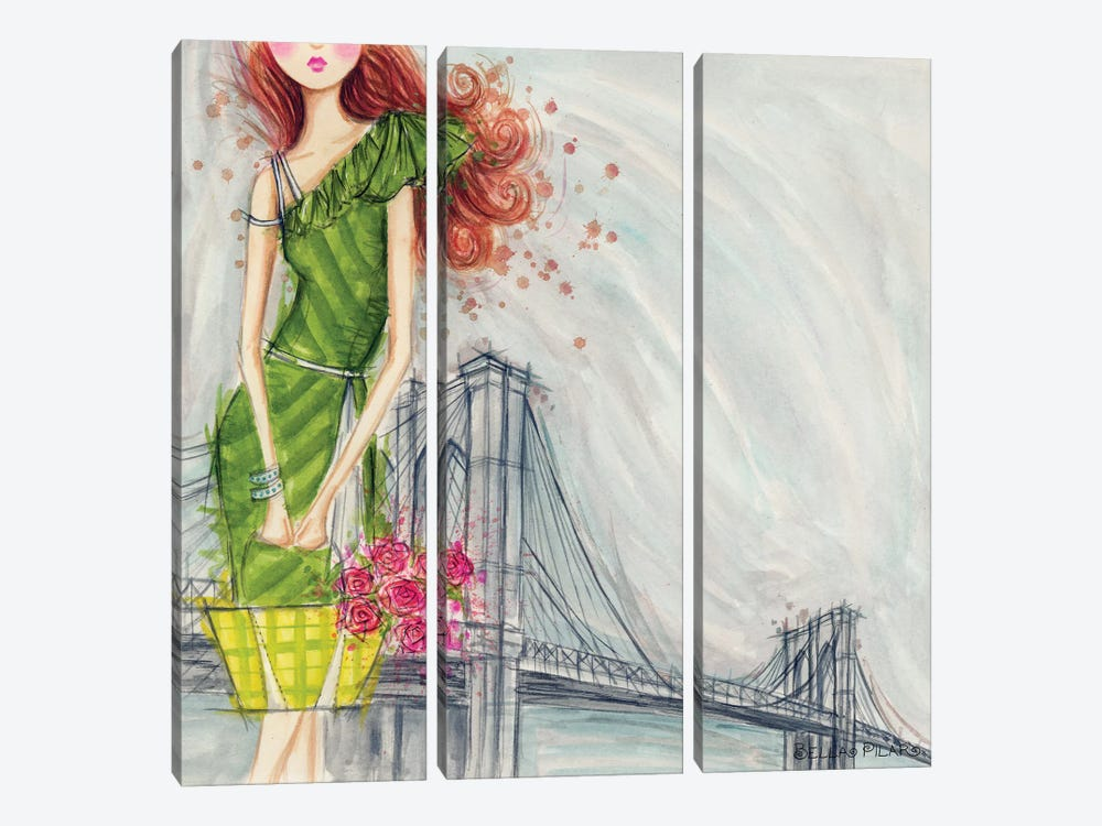 City Girl Series: The Brooklyn Bridge by Bella Pilar 3-piece Art Print