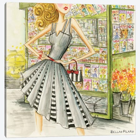 The Newsstand Canvas Print #BPR237} by Bella Pilar Canvas Art