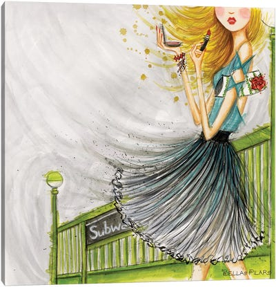 City Girl Series: The Subway Canvas Print #BPR239