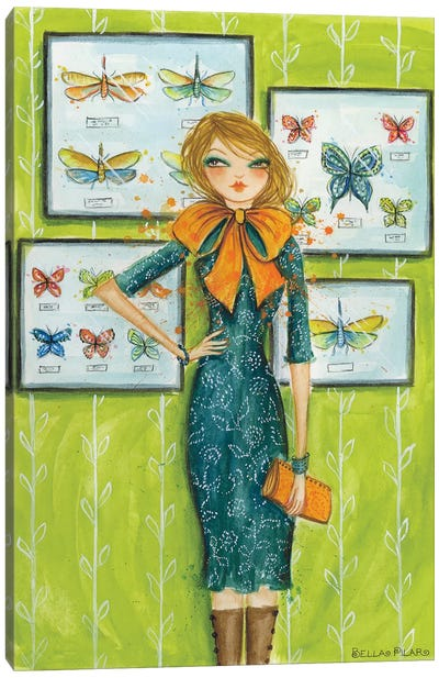 Best dress Butterfly Bow Canvas Art Print