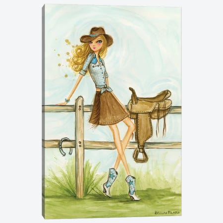 Cowgirl Canvas Print #BPR240} by Bella Pilar Canvas Art