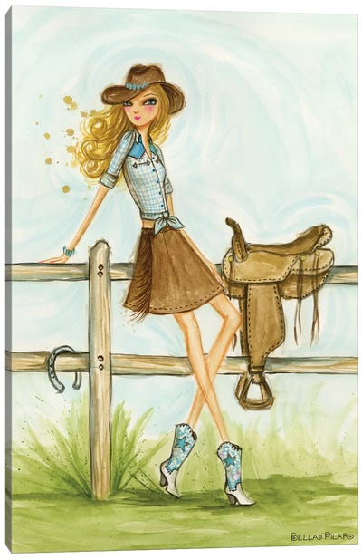 Cowgirl Canvas Art Print