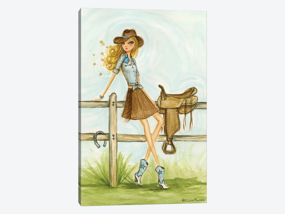 Cowgirl 1-piece Canvas Wall Art