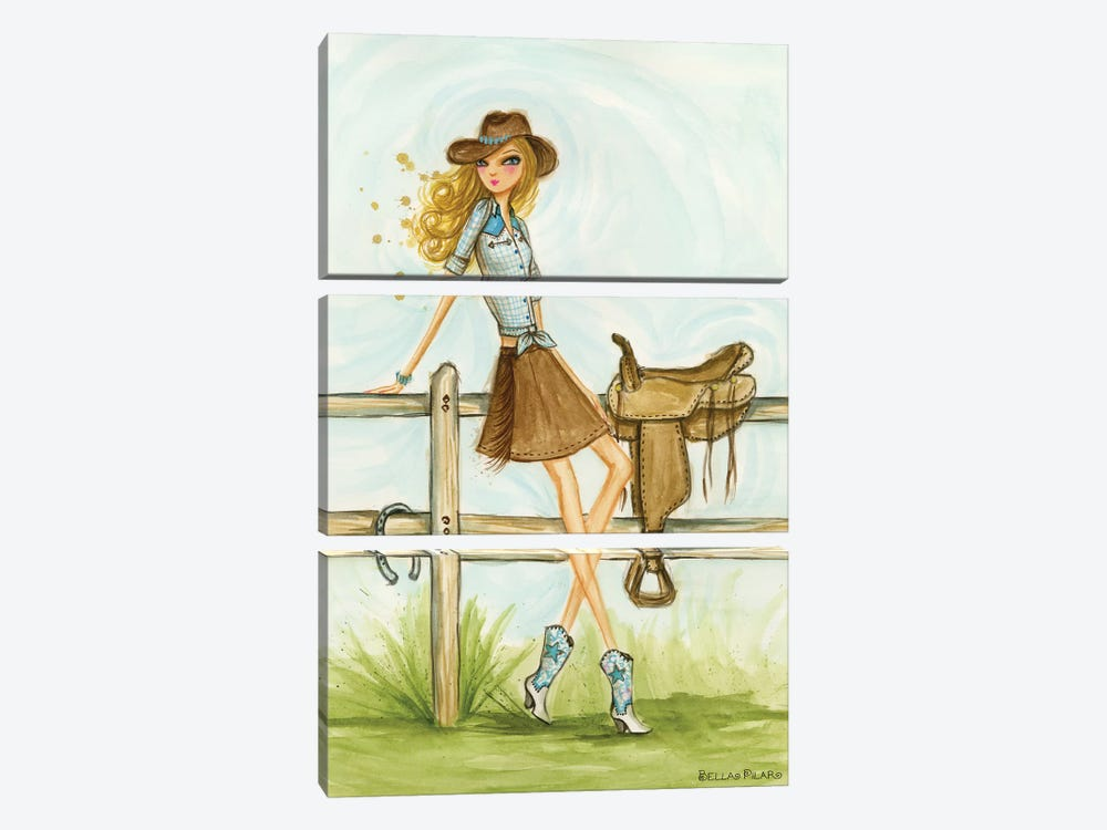 Cowgirl 3-piece Canvas Art
