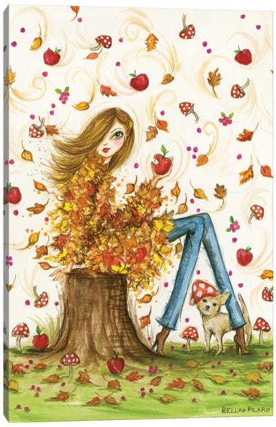 Crisp Autumn Day Canvas Art Print