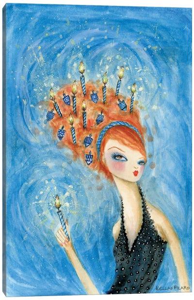 Holiday Hair Series: Dreidel, Dreidel, Dreidel Canvas Print #BPR243