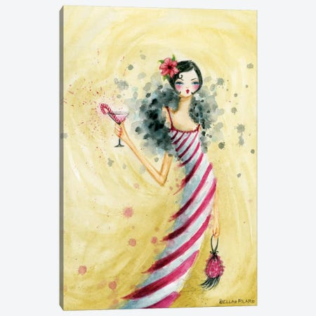 Candycane Dress Canvas Print #BPR247} by Bella Pilar Canvas Print