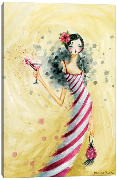 Candycane Dress Canvas Art Print