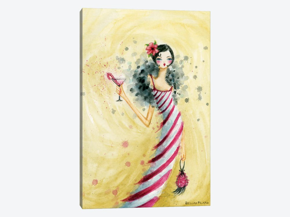 Holiday Series: Candycane Dress by Bella Pilar 1-piece Canvas Art Print