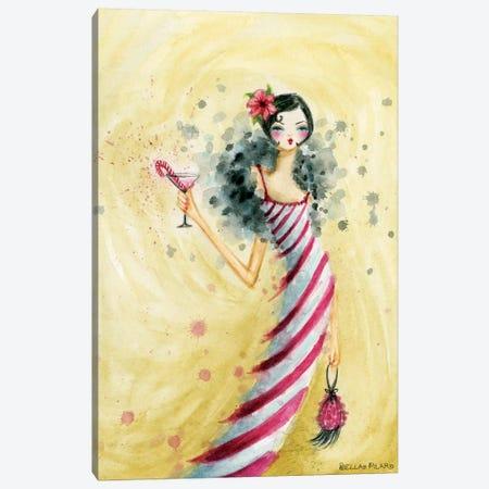Candycane Dress Canvas Print #BPR247} by Bella Pilar Canvas Print