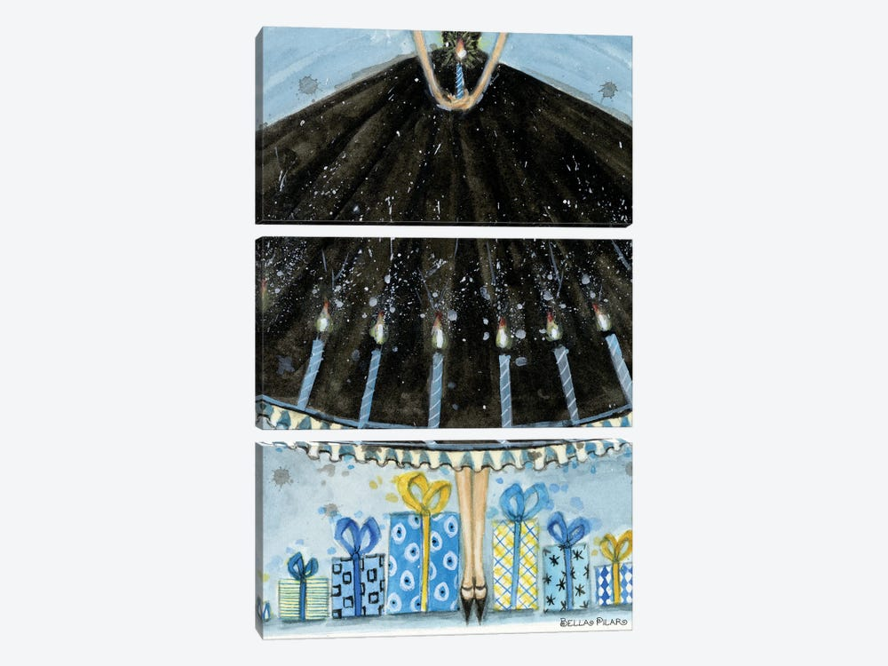 Hannukah Gifts by Bella Pilar 3-piece Canvas Art
