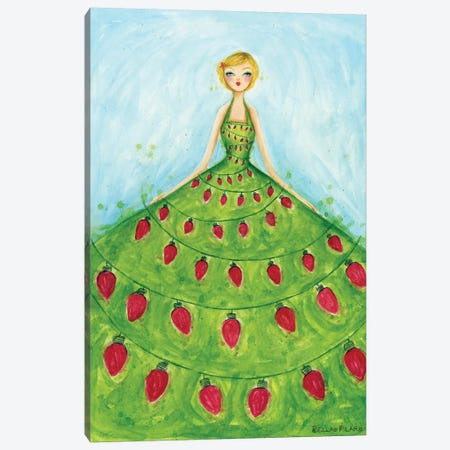 Light-Up Dress Canvas Print #BPR255} by Bella Pilar Canvas Wall Art