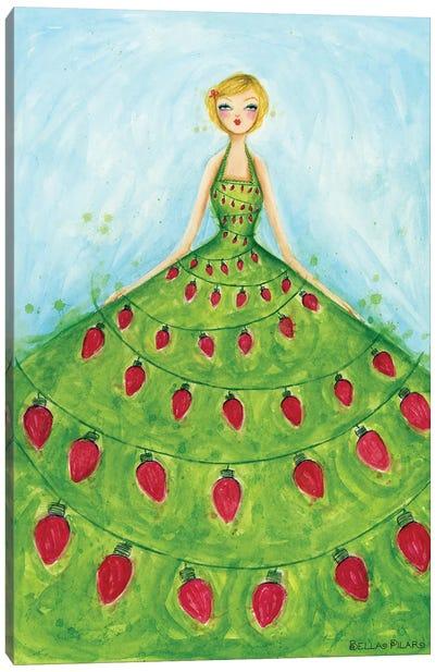 Holiday Series: Light-Up Dress Canvas Print #BPR255