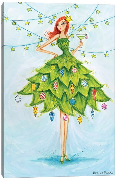 Holiday Series: Merry Martini Canvas Print #BPR256