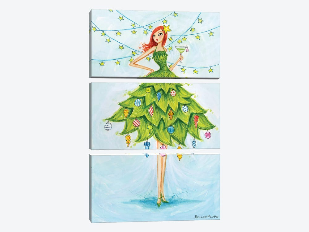 Holiday Series: Merry Martini by Bella Pilar 3-piece Art Print