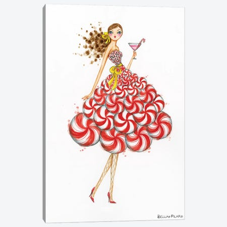 Peppermint Silo Martini Canvas Print #BPR258} by Bella Pilar Canvas Art Print