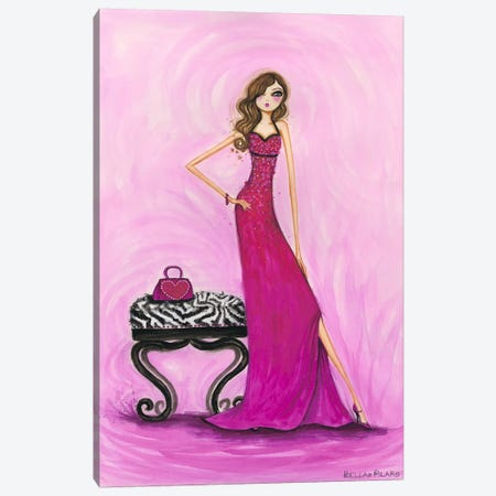 Best dress Gem Dress Canvas Print #BPR25} by Bella Pilar Art Print