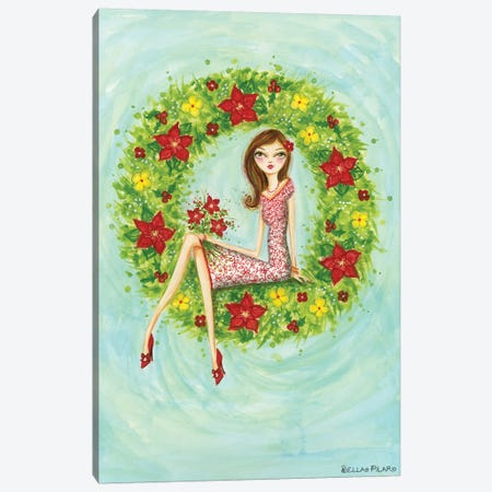 Ruby's Bouquet Canvas Print #BPR260} by Bella Pilar Canvas Artwork