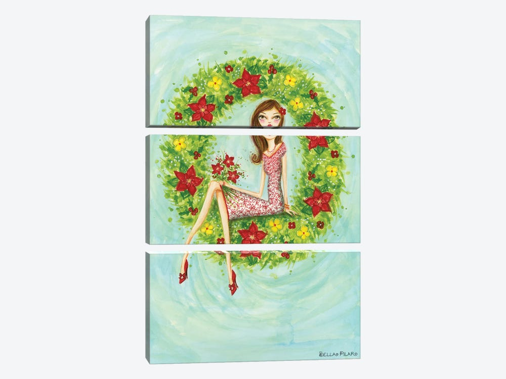 Holiday Series: Ruby's Bouquet by Bella Pilar 3-piece Canvas Art