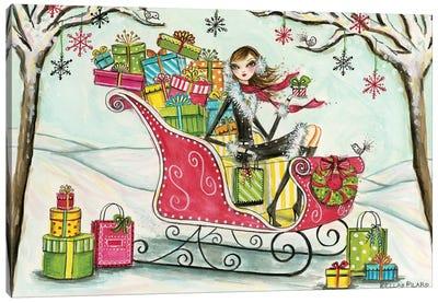 Santa's Sleigh Canvas Art Print