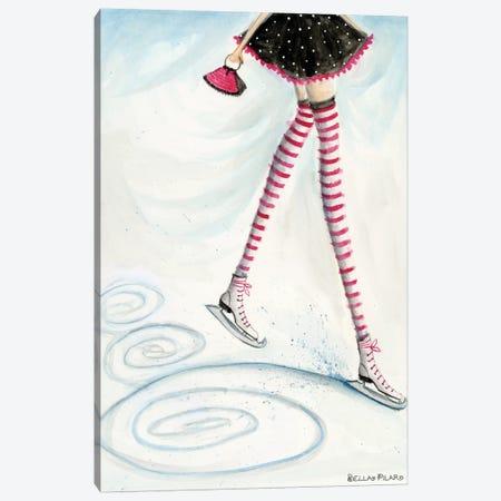 Skating In Candycane Socks Canvas Print #BPR263} by Bella Pilar Canvas Art