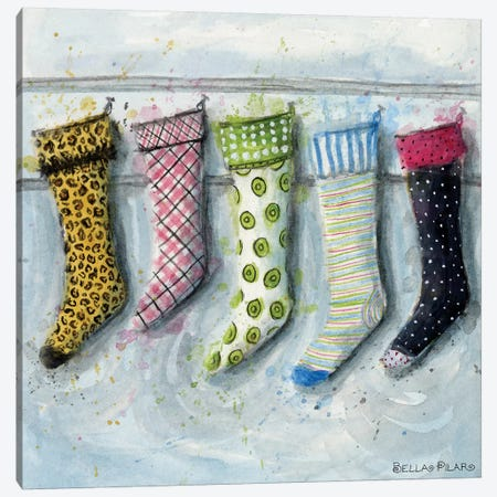 Stockings Canvas Print #BPR265} by Bella Pilar Art Print