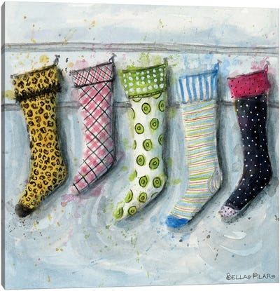 Holiday Series: Stockings Canvas Print #BPR265