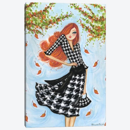 Best dress Houndstooth Canvas Print #BPR26} by Bella Pilar Canvas Print