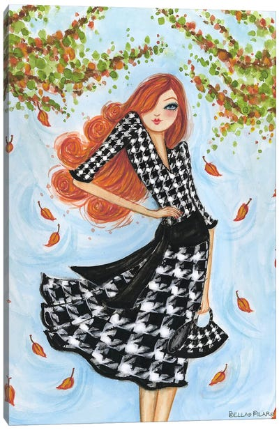 Best dress Houndstooth Canvas Print #BPR26