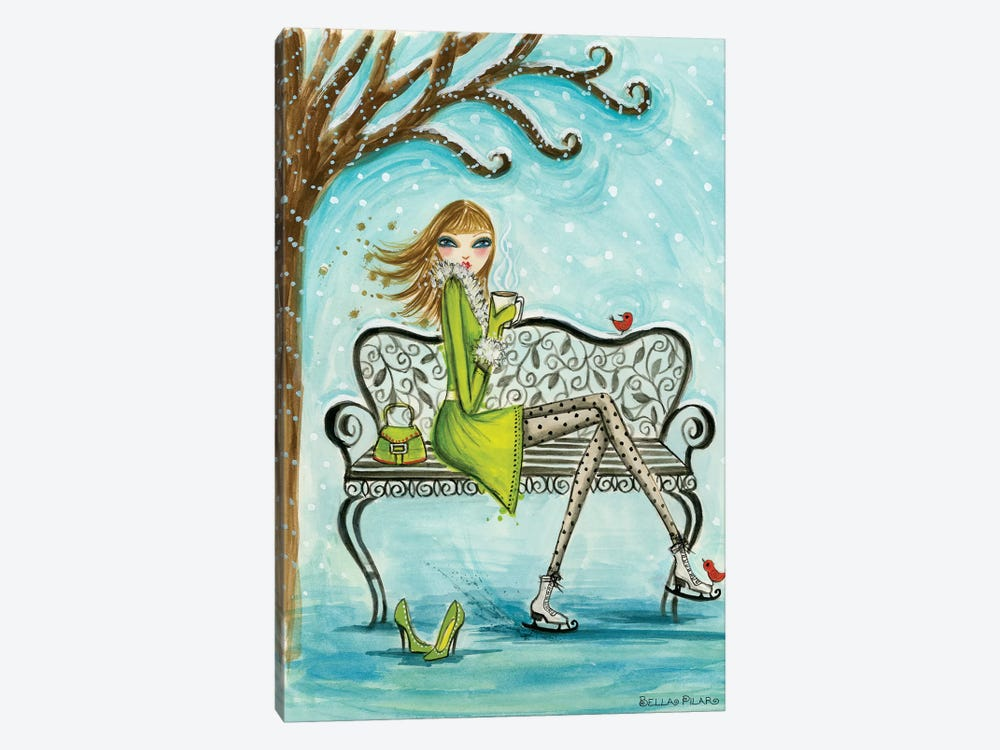 Ice Princesses Series: Cocoa Break by Bella Pilar 1-piece Canvas Print