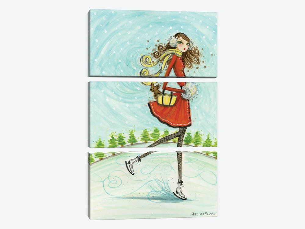 Ice Princesses Series: Skate Away by Bella Pilar 3-piece Canvas Art