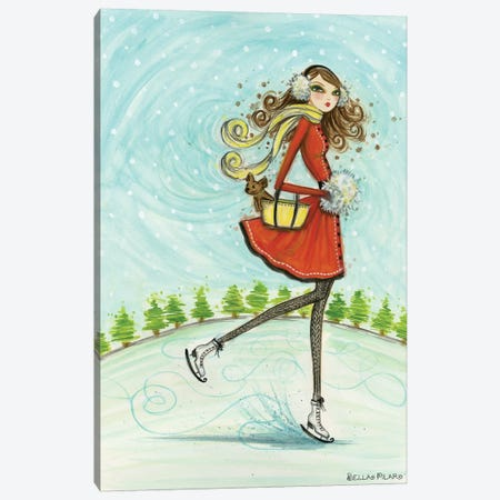 Skate Away 3-Piece Canvas #BPR271} by Bella Pilar Canvas Print