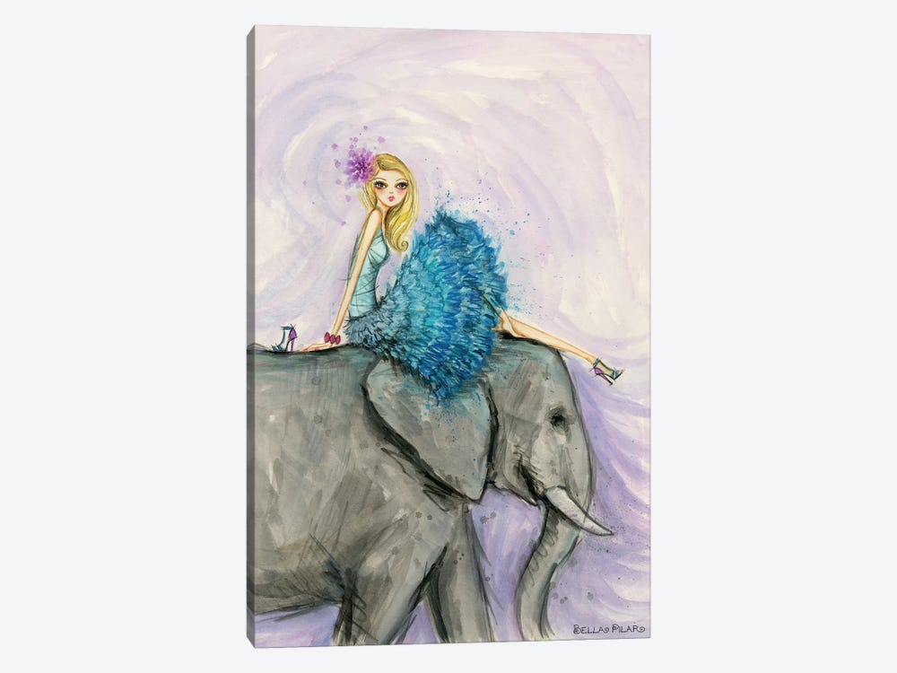 Jungle Lounge Series: Elephant Ellie by Bella Pilar 1-piece Canvas Print