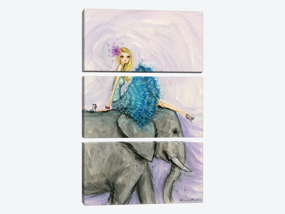 Jungle Lounge Series: Elephant Ellie by Bella Pilar 3-piece Canvas Print