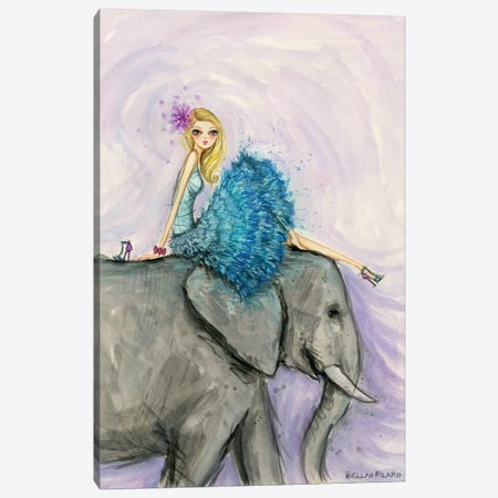 Elephant Ellie Canvas Print #BPR272} by Bella Pilar Art Print