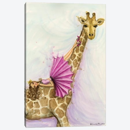 Giraffe Gia Canvas Print #BPR273} by Bella Pilar Canvas Art Print