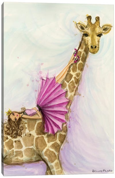 Jungle Lounge Series: Giraffe Gia Canvas Art Print