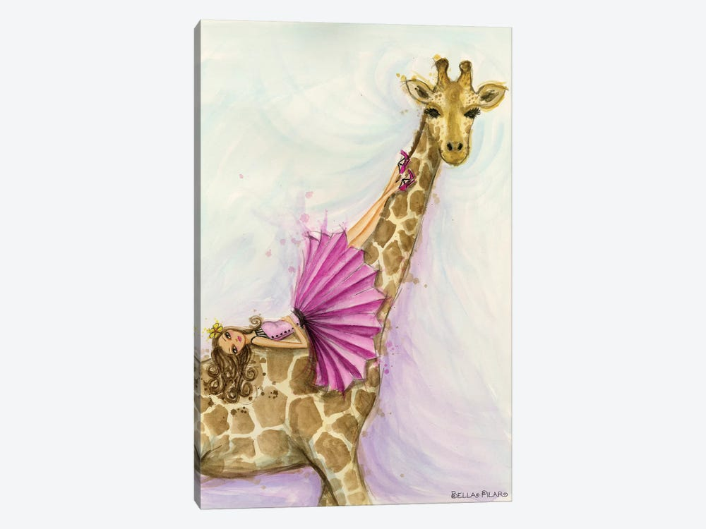 Giraffe Gia by Bella Pilar 1-piece Canvas Art