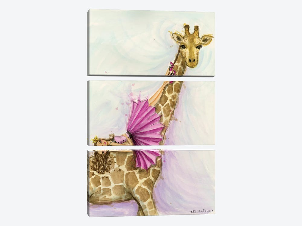 Giraffe Gia by Bella Pilar 3-piece Canvas Wall Art